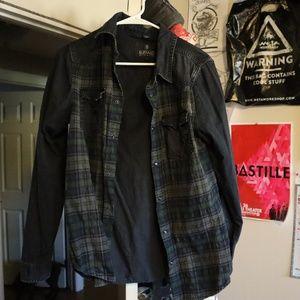 Buffalo Black Long Sleeve Men's buttondown Flannel